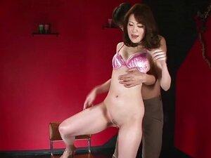 Slutty Tomoka in a red room with her boyfrien
