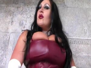 Leather Goddess Smoking Blowjob - Handjob with