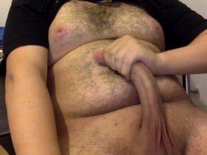 Chubby boy jerking off