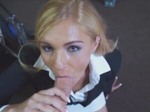 Gorgeous milf mom Holly is sucking me hard, Sexy