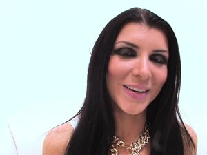 Gonzo sex with porn starlet Romi Rain and Euro
