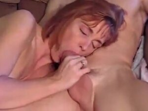 Redhead mother I'd like to fuck blows him