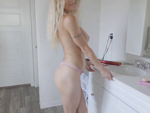 Blonde stepmom Natasha gets fucked hard by her