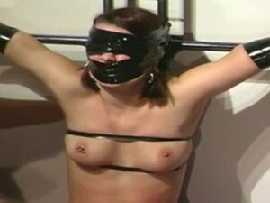 Pale beauty is with lots of black tape