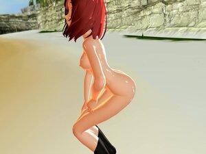 MMD Sexy Redhead Cutie Sweet Pussy Views GV00100