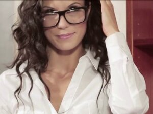 Brown haired girl Alexa Toma gets banged at the