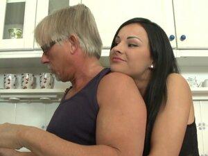 Hardcore anal gaping in naughty kitchen fuck