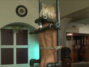 blond slave is worked over 1 of 2, blond slave is