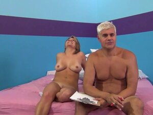 Old fucker is penetrating young tanned model
