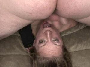 Flexible slut gets her throat pounded