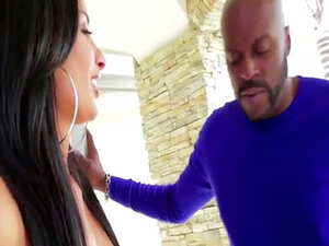 Anissa Kate moaning and gripping the open front