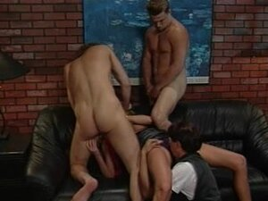 Vintage gang bang video with double penetration