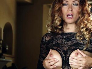 Milf pornstar dressed in sexy lingerie goes solo