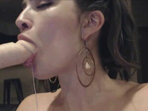 She Loves Spit Squirting on Her Tits While