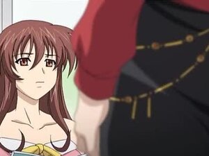 Brown-haired anime hottie loves amazing threesome