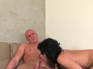 Dark haired agent fucks big dick