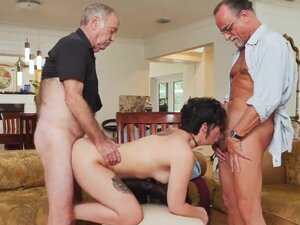 Old teacher lesbian with girl and old mature two