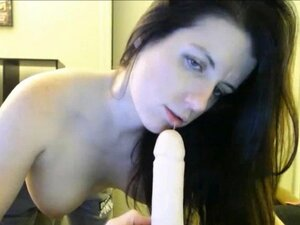 Busty Mom With Big Tits Dildo Blowjob and