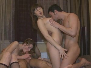 Thrilling group sex with Catherine and Maya