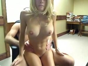 super excited golden-haired gal with firm mambos