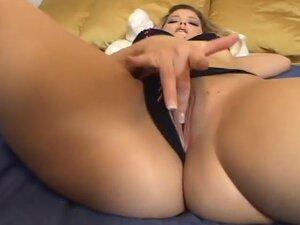 Blond Stunner Strokes Herself To Orgasm, Big titty