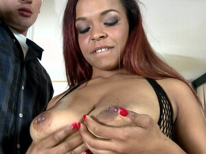 Bignaturals - Breasty banks, Nicole modeled a