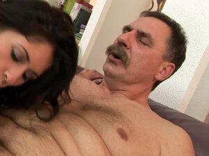 Pretty and sexy Connie gets fucked by old man with