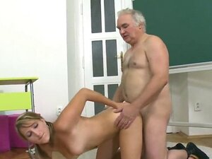 Lovesome schoolgirl is tempted and penetrated by