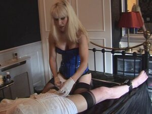 Madame C teases, shaves and penetrates