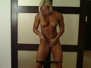 Muscular Milinda Dildo Play in Hotel Room