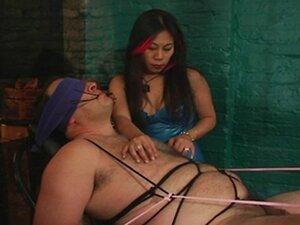 BDSM action involving  a slave &  his hot mistress