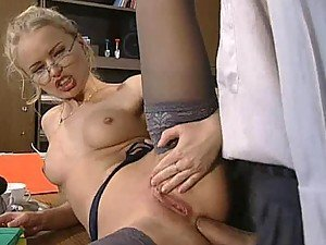 Blonde Secretary Dora Venter Having Anal Sex in