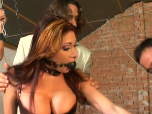 Anal sluts in BDSM foursome getting DP fucked