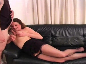 Fat MILF Cum On Boobs In Living Room Is Fun For