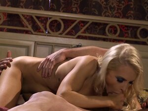 Wicked hot blonde Alix Lynx fucking him until he
