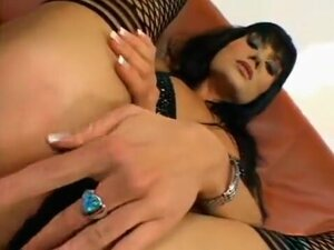 Incredible Brunette, Fishnet xxx video