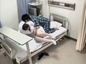 Awesome nurse screwed by her patient in voyeur