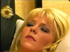 Blond girl dreams two big dick on theraphist sofa