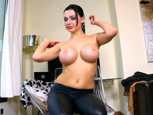 Aletta Ocean unleashes her huge perfect breasts
