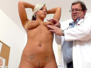 Beauty blonde Nathaly Heaven and her doctor