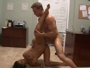 Rough sex in the office after work