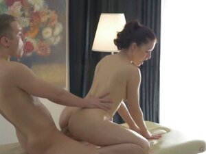 Young Anal Tryouts - Olya takes a hard anal