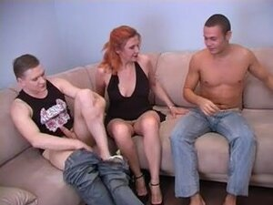 Redhead Mom Sonia whit Alex and Artur