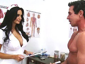 Ava Addams the busty nurse sucking and fucking in