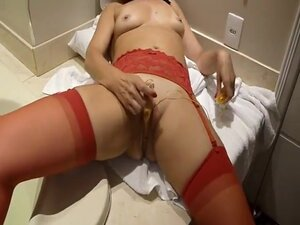 Red Sex, My Cumming Hard And Toys