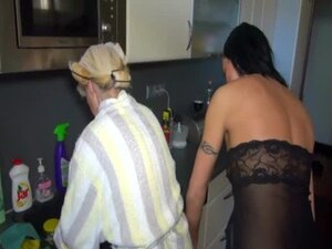 OldNanny Nice threesome, young couple is dealt