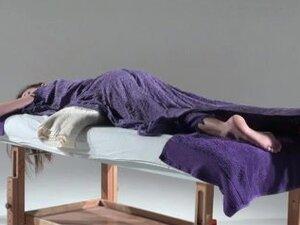 Joy receives a hot masturbation in adult massage