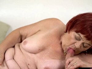 Young Rob moans as he showered granny Marsha with