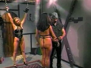 Leather is sexy on BDSM women