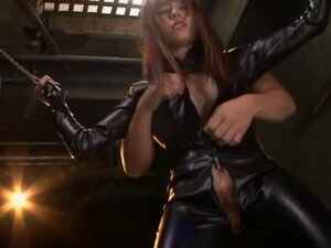 Rina Rukawa in leather gets pussy teased with